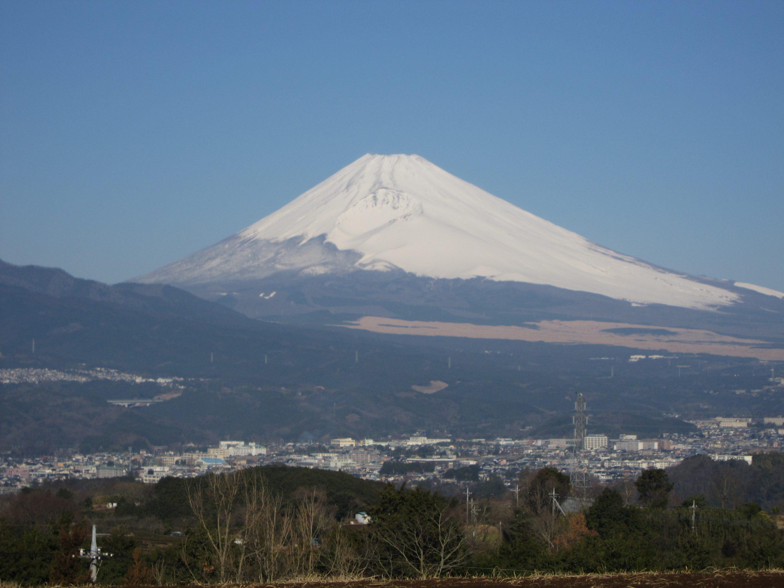 富士山を仰ぐ三島市